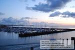 Sonnenaufgang über dem Hafen von Wyk auf Föhr
